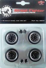 1/18 SCALE MODEL  10 SPOKE GMP WHEELS IN Black