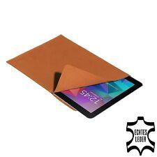 Echtleder Tasche Hülle für Samsung Galaxy Tab und andere 10 Zoll, cognac