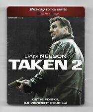COFFRET STEELBOOK BLU-RAY + DVD / TAKEN 2 - LIAM NEESON / EDITION LIMITEE