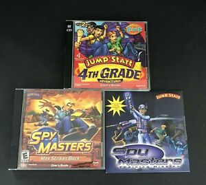 Jump Start Adventures 4th Grade Adventures PC Mac Game & Spy Masters Game