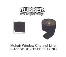"1930 - 1960 Pontiac Window Channel Mohair Liner- 12' Long - 2-1/2"" Wide"