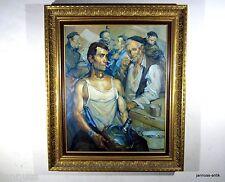 exquisites Ölgemälde Arbeiter Künstler unbekannt außergewöhnliche Profiarbeit