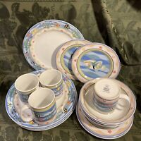 Sakura China 16pc  Set Coral Reef Pattern Clair Murray Dinnerware
