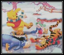 Winnie the Pooh and Friends 2 - Cross Stitch Chart/Pattern/Design/XStitch