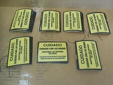 """Adhesive Cuidado/Caution  Stickers cuidado con las manos 4"""" W X 3"""" L Lot of 70"""