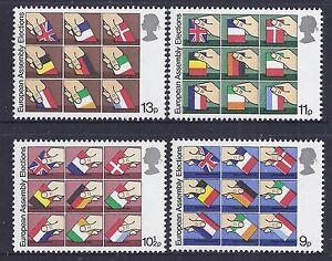 1979 GB QEII EUROPEAN ELECTIONS MINT SET OF 4 MUH/MNH SG1083 - SG1086