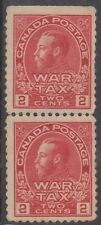 (RA-29)1915 CANADA2c Red War taxVertical pair MNG ow233
