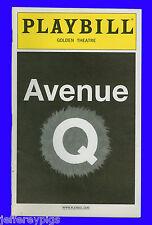 Playbill + Avenue Q + Evan Harrington , Jennifer Barnhart , Christian Anderson