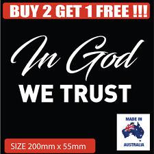 In God we trust Religious Car sticker Decal Popular Christian sticker
