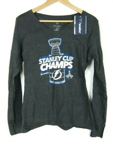 NEW 2020 Tampa Bay Lightning Stanley Cup Champions T-Shirt Locker Room Hockey