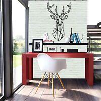 Geometric Deer Head Metal Wall Decor Home Living Room Decoration Office Decor