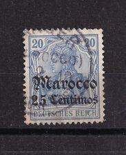 Briefmarke Deutsche Auslandspostämter (Marokko) 1906 Germania gestempelt