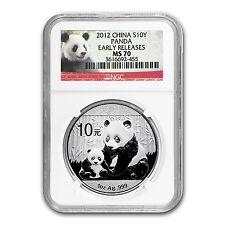 2012 China 1 oz Silver Panda MS-70 NGC (Early Releases) - SKU #68178