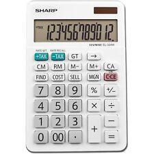 Sharp EL-334W Large Desktop Calculator 12-Digit LCD EL334W