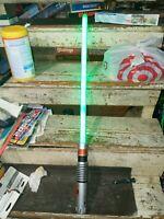 2010 Hasbro Star Wars Ultimate FX Lightsaber Luke Skywalker Green 32721 C-2945A