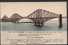 Scotland Postcard - The Forth Bridge Cost Over £3,500,000 -   RS3383