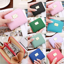 New Womens Leather Mini Wallet Card Holder Small Zip Coin Purse Clutch Handbag