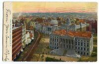 102220 CITY HALL SQUARE BROOKLYN NEW YORK CITY NYC NY VINTAGE POSTCARD 1907