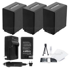 3x NP-FV100 Battery + Charger for Sony NEX-VG900 VG10 VG20 VG20H
