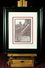 Hand cut paper, silhouette Great Wall of China, 2006, artist signed & dated on r