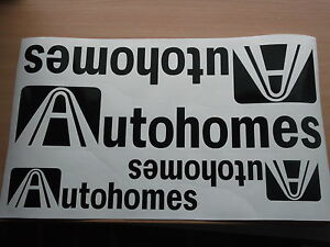 AUTOHOMES MOTORHOME STICKERS x4