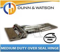 Medium Over Seal Stainless Steel Hinge - Camper Trailers, Caravans, Trucks