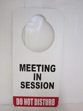 DURABLE DO NOT DISTURB DOOR HANGER SIGN  MEETING IN SESSION