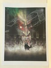 "Primo: Batman Arkham Asylum #1 Dave McKean art 10"" x 14"" poster 2010 Dc comics"