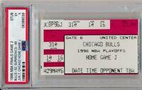 1996 NBA Finals Chicago Bulls v Seattle Supersonics GM 2 Ticket Stub PSA 5 #6039