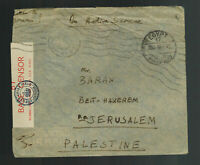 1942 England FPO Egypt Cover to Palestine RAF Censorship