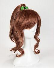 Sailor Moon Kino Makoto Wig Sailor Jupiter Wig Brown Styled Ponytail Cosplay Wig