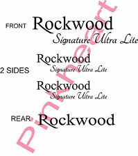 Rockwood Signature ultra lite KIT rv decal Rv camper decals graphics sticker USA