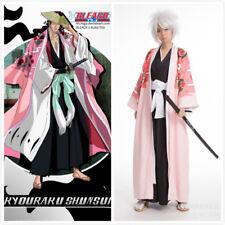 ! nuevo! Capitán Kyouraku Shunsui Kimono Blanqueador 8th Juegos con disfraces Disfraz Capa Set Completo