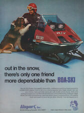 Out in the snow there's only one Alsport Boa-Ski Snowmobile ad 1973 FJ