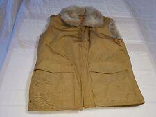 Vintage Woolrich Women's Faux Fur Lined Vest Size Medium