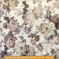 "Victorian Roses Floral Cotton Fabric By The Yard 36""x44"""