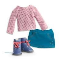 New American Girl Sparkle Pink Sweater Outfit with Blue Work Boots Gift Set