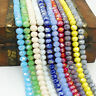 Wholesale color AB  40pcs Rondelle Faceted Crystal Glass Loose Spacer Beads 8mm