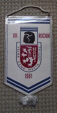 1981 Czechoslovakia Boxing Title Fight Usti nad Labem Glove Lion Pennant Flag