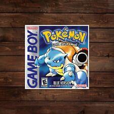 Pokemon Blue Game Boy Cover Decal/Sticker