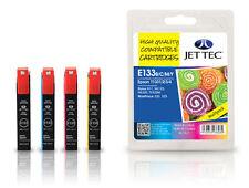 8 x T133 Jet Tec Premium UK Inkjet cartridges fits Epson + Free Celcast Paper