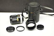 Fuji Fijica 135mm f3.5 manual focus screw mount(M42)w/hood, filter, caps & case