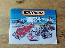 Matchbox Katalog 1984