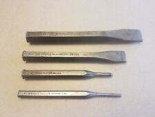 """4-piece lot of PROTO chisels and punches - 7/8"""" & 3/4"""" cut.  Made in USA"""