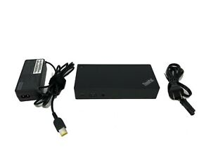 Lenovo ThinkPad USB-C Dock 4K - DK1633 / 03X7194 / 40A9 90w charger included