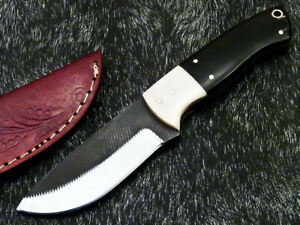 Stunning Handmade HIGH Carbon Real File Steel Fixed Blade Hunting Knife PS-151