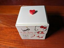 Hello Kitty Wood Jewelry Chest 2 Drawers Vintage NIB