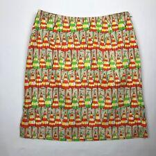 Eric Casual Women Multi Color Beach Umbrella Side Slit pencil Skirt sz 6