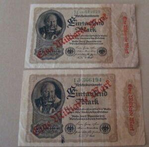 EINE MILLIARDE (BILLION) MARK BERLIN 1922 REICHSBANKNOTE GERMANY 2xBANKNOTES