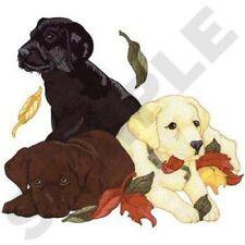"Labrador Retriever Puppies Dog, Embroidered Patch 9.5"" x 8.4"""